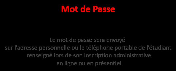 Mot de passe infos - compte informatique