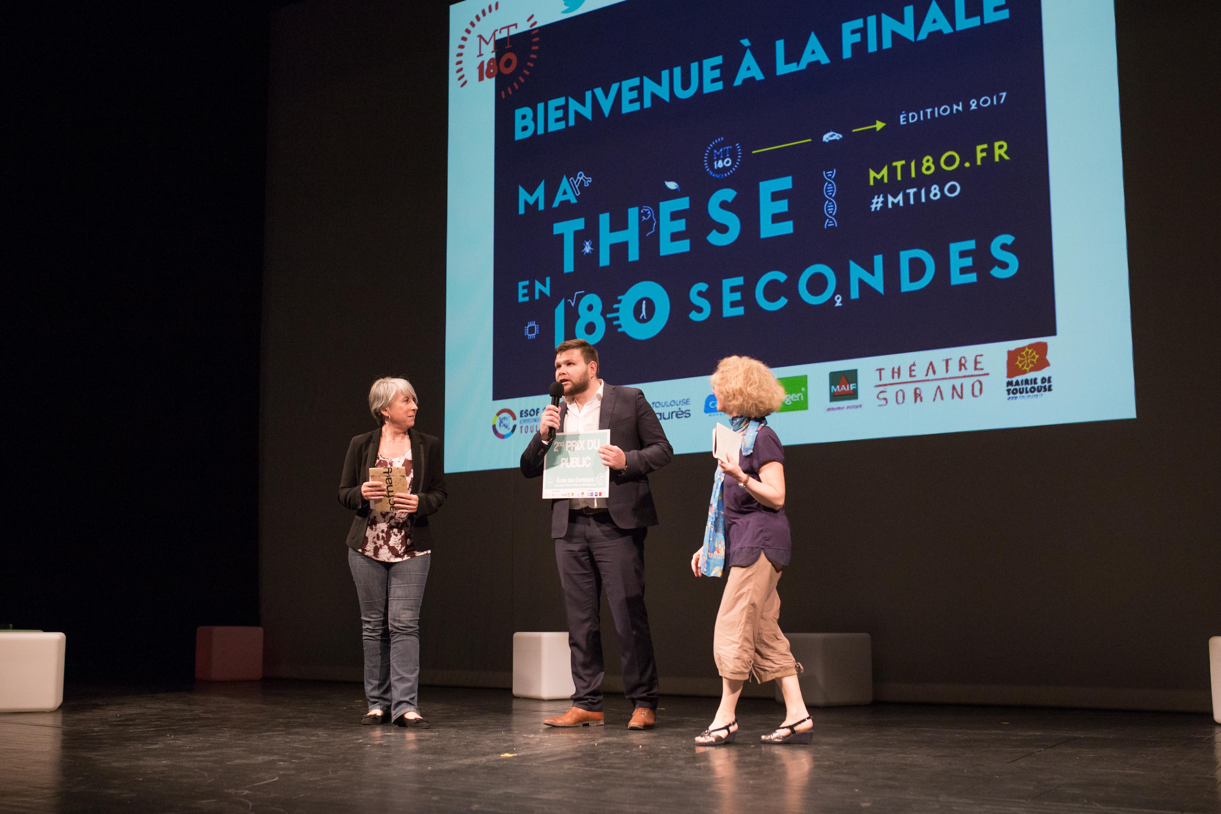 MT180s, finale régionale : Sébastien Garcia, 2ème prix du jury